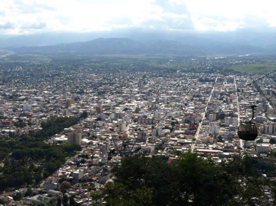 Salta: view from top of Cerro San Bernardo