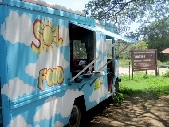 Sol Food: Located just outside Garcia Gate (the entrance to the Wildlife Refuge beaches).