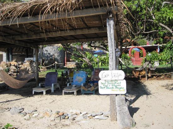 Casa Delfin Sonriente: Beach front palapa for relaxing