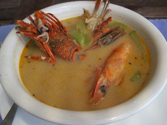 ‪‪Las Flores Resort‬: the delicious seafood soup!‬