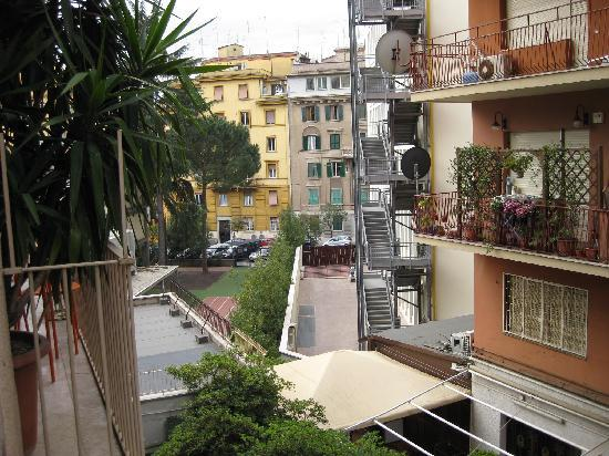 The Home in Rome Kosher Bed and Breakfast: View from the room