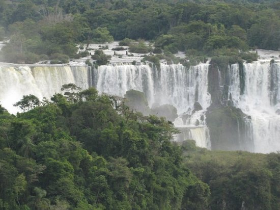 Foz de Iguazú, PR: View from the Brazil side...