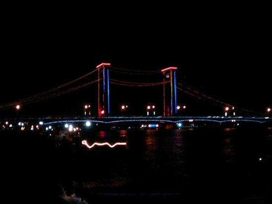 the famous..ampera bridge, palembang