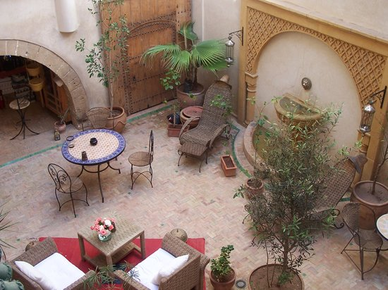 Riad Chbanate: internal courtyard