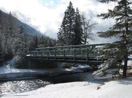 Bridge near Bow Falls Banff Canada