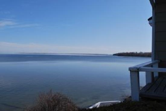 The Briars: View of Lake Simcoe outside our room