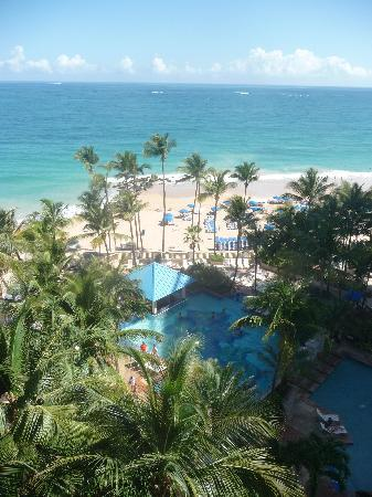San Juan Marriott Resort & Stellaris Casino: view from our balcony