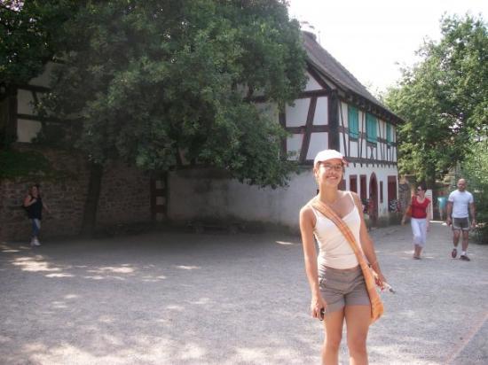 Colmar, Frankrike: En Alsace, à l'écomusé: reconstitution des vieilles maisons d'alsace! :D