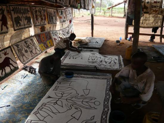 Korhogo, Cote d'Ivoire: Les toile de Korogho