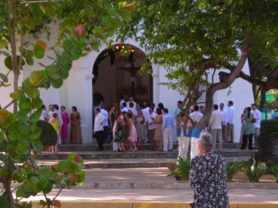 Porlamar, Venezuela: It's a Saturday so these people are getting married at a little church across from the ocean.