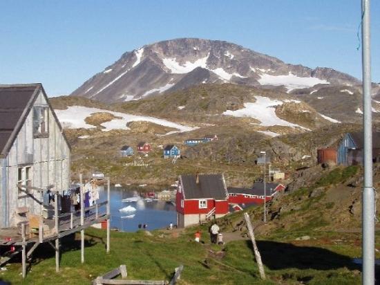 Kulusuk, Groenlandia: Sommer 2007 med Kraterfjejdet i baggrunden