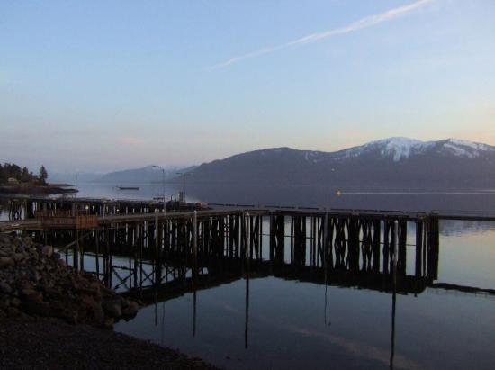 Looking out my hotel room at the Stikine Inn in Wrangell... gorgeous night