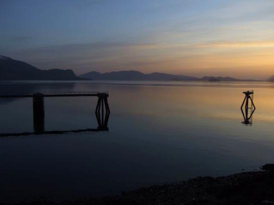 Sunset...awesome view I had from my hotel room at the Stikine Inn in Wrangell