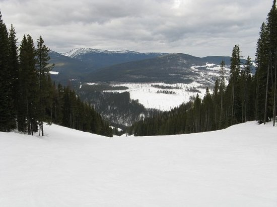 Kimberley Alpine Resort: view of the valley from one of the runs at top.