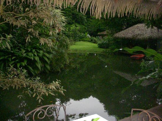 Hacienda La Isla Lodge: The pond by the restaurant