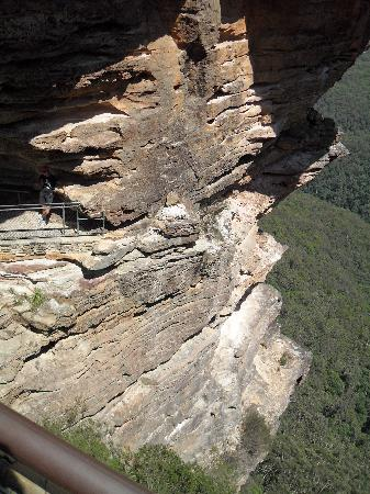 Katoomba Town Centre: on the side of one of the three sisters