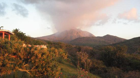 Montserrat: volcano at sunset