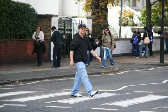 Crossing The Famous Abbey Road Same As Cover Of Beatles Album