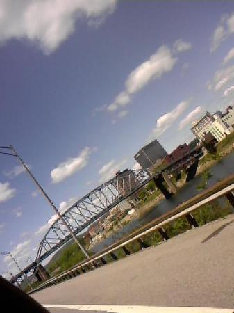 Charleston, WV: Southside bridge on a gorgeous day!