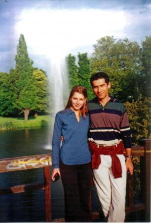 Con la bella Katja en el Clara Setkin Park, Leipzig Alemania.