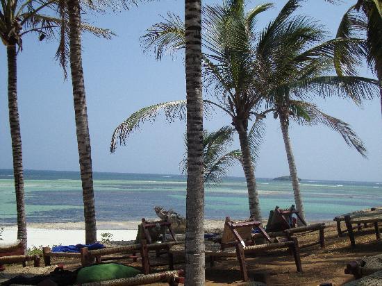 Garoda Resort: non ci sono ombrelloni perchè è una riserva naturale, quindi si stà piacevolmente all'ombra dell