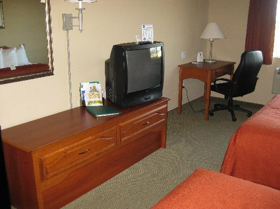 Quality Inn & Suites at Olympic National Park: A large television with remote and good channel selection
