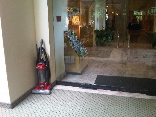 Hilton Boca Raton Suites: Dirty Vacuum Stored Next To Lobby Made Me Feel  Like I