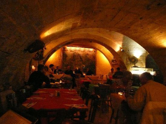 Cellared interior of La Cave