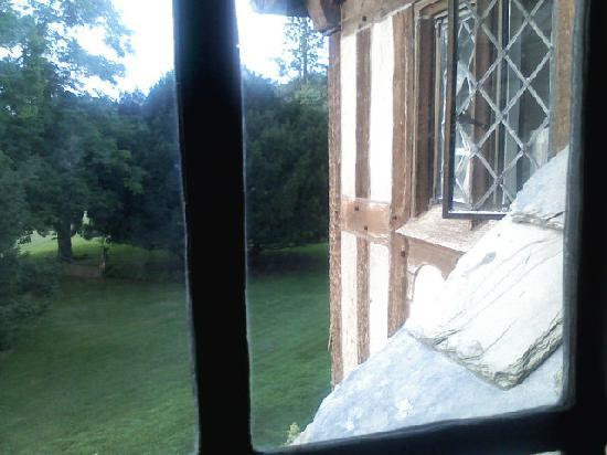 The Castle at Skylands Manor: View out of our bedroom window in the King Alfred Suite