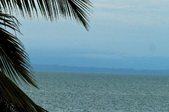 BlueBelize: View from the Blue Belize deck, with Guatemala in the distance.