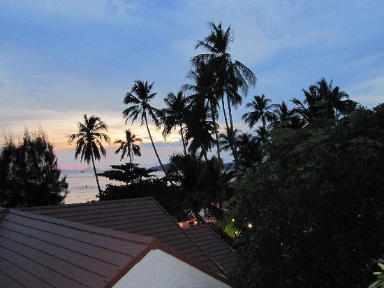 Ao Nang Sea Front Thai Resort : sun set view from balcony