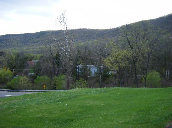 View of mountain from Appalachian Motel 1