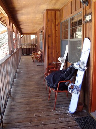 Red River, Nuevo Mexico: Our porch