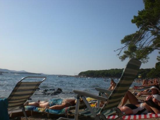 Biograd na Moru, Kroatien: strand überfüllt