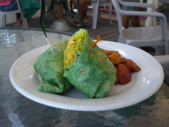 Beach Side Cafe: Curry Chicken wrap.