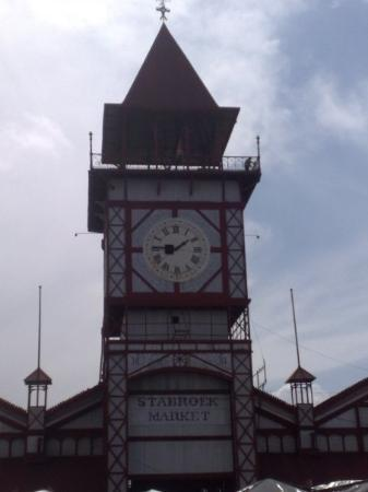 Georgetown, Guyana: Do you see a guy in the tower?