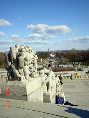 Vigeland Museum: View towards gate of Frognerparken
