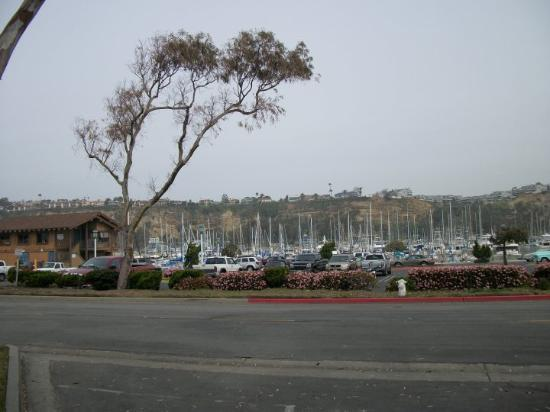 Dana Point Harbor and the hills that overlook the Pacific