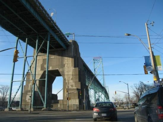 Ambassador Bridge (to the US) in Windsor... we went to a mall near Detroit