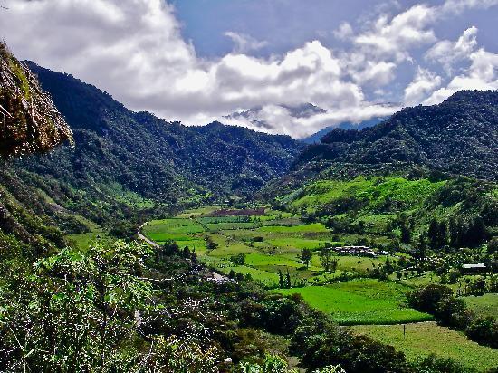 El Refugio de Intag Lodge: el refugio's valley