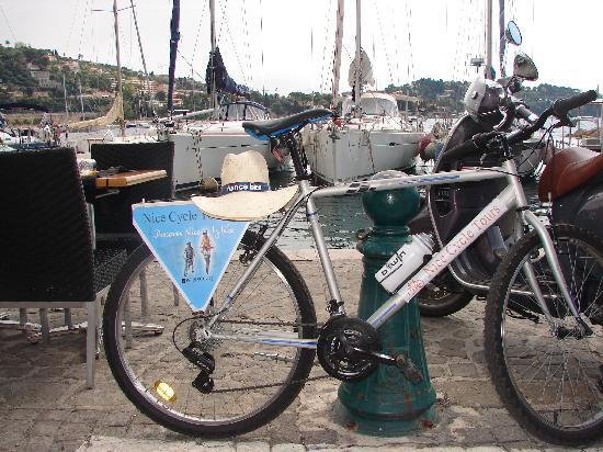 Nice Cycle Tours: Bicycle in port