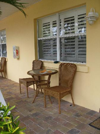Tropical Beach Resorts: Our little patio area outside our room