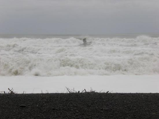 the sea at Napier was very choppy!