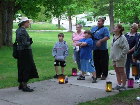Bayfield, WI: Ghost Walk guests meet at dusk and carry lanterns