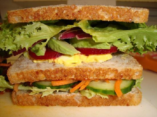 Posh Nosh Cafe and Restaurant: Vegetarian Vogels(r) Sandwich