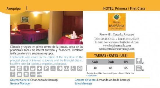 Hotel Mamatila : Promocion Anual