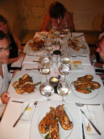 IFA Villas Bavaro Resort & Spa: 1l'assiette de langoustes du CARIBE...
