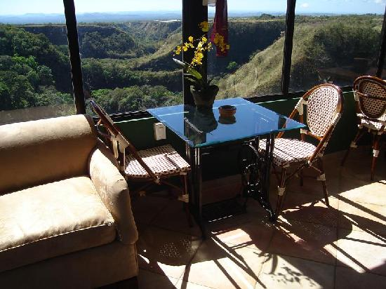 Hacienda Los Molinos Boutique Hotel: Wonderfull Views to the Canyon and ocean Pacific horizon