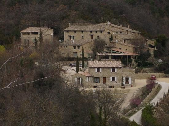 Nyons, ฝรั่งเศส: l'hotel vu de loin