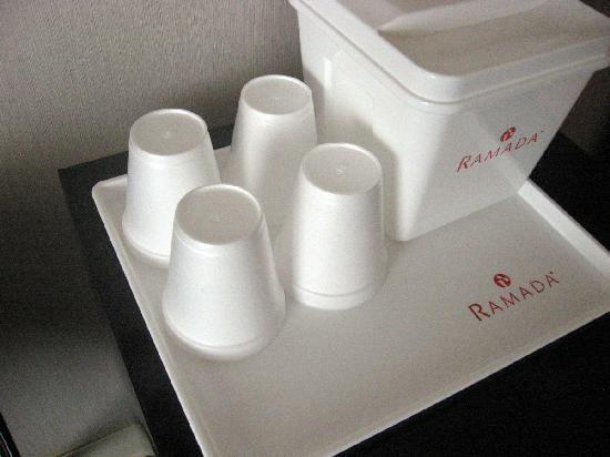 Ramada Costa Mesa/Newport Beach: We got lovely styrofoam cups provided for us